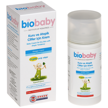 BIOBABY KURU VE ATOPİK CİLTLER İÇİN KREM 100 ML-BİOBABY BABY CREAM FOR DRY SKIN WHİT ATOPİC TENDENCY 100 ML