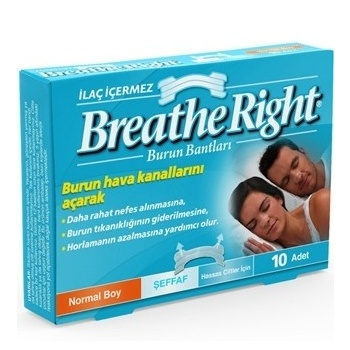 BREATH RİGHT NORMAL BOY 10 ADET BURUN BANTI
