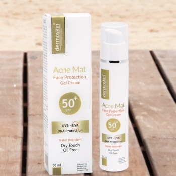 DERMOSKİN ACNE MAT FACE PROTECTİON SPF 50 50 ML-AKNELİ CİLTLERE ÖZEL