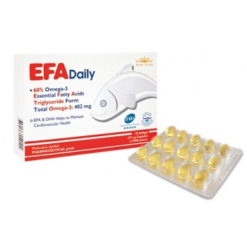 EFA DAİLY 600 MG EPA+DHA 30 SOFTGEL KAPSÜL
