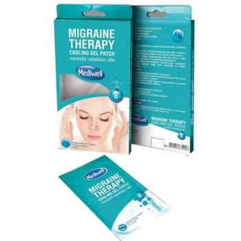 MEDIWELL MIGRAIN THERAPY COOLING GEL 3 PATCH