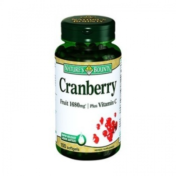 NATURES BOUNTY CRANBERRY PLUS VİTAMİN C 1680 MG FRUİT 100 SOFTGELS