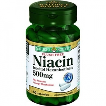 NATURES BOUNTY FLUSH FREE NİACİN 500 MG 50 KAPSÜL