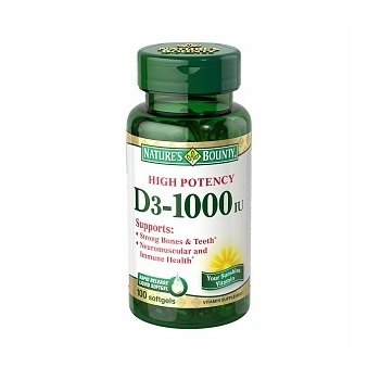 NATURES BOUNTY VİTAMİN D3 1000 IU 100 SOFTGELS