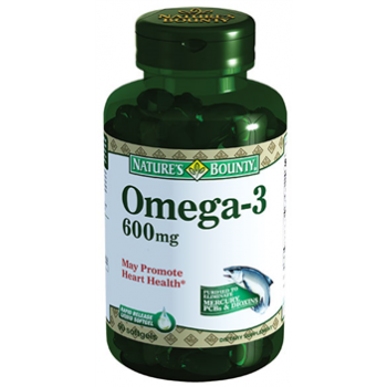 NATURES BOUNTY OMEGA 3 600 MG 90 SOFTGELS