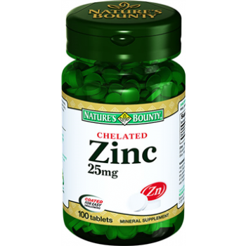 NATURES BOUNTY CHELATED ZİNC 25 MG 100 TABLET