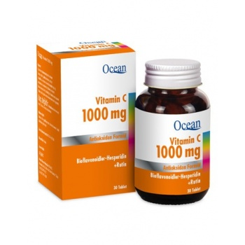 OCEAN VİTAMİN C 1000 MG 30 TABLET