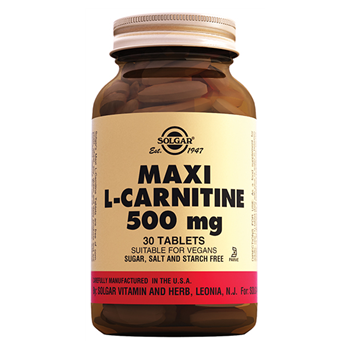 SOLGAR MAXİ L-CARNİTİNE 500 Mg 30 TABLETS