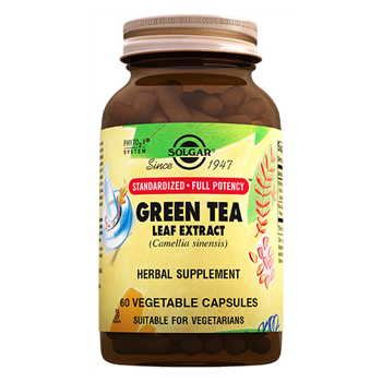 SOLGAR GREEN TEA LEAF EXTRACT ( SFP ) 60 VEGATABLE CAPSULES