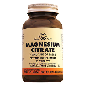 SOLGAR MAGNESİUM CİTRATE 200 Mg 60 TABLETS