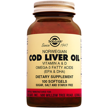 SOLGAR COD LİVER OİL 100 SOFTGELS