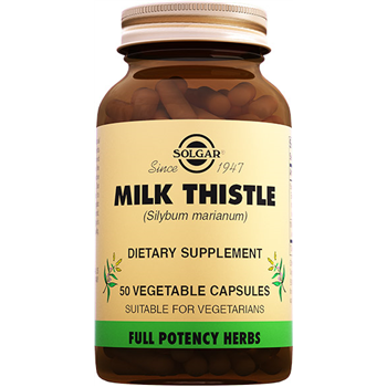 SOLGAR MİLK THİSTLE 50 VEGATABLE CAPSULES