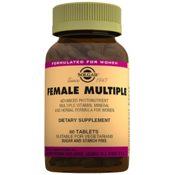 SOLGAR FEMALE MULTİPLE 60 TABLETS