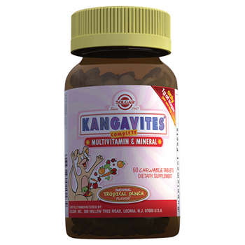 SOLGAR KANGAVİTES MULTİVİTAMİN & MİNERAL CHEWABLE 60 TABLETS