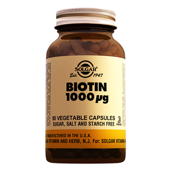 SOLGAR BİOTİN 1000 MCG 50 VEGETABLE CAPSULES
