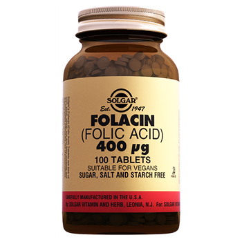 SOLGAR FOLACİN ( FOLİC ACİD ) 400 MCG 100 TABLETS