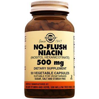 SOLGAR NO FLUSH NİACİN 500 Mg 50 VEGATABLE CAPSULES