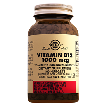 SOLGAR VİTAMİN B12 1000 MCG DIETARY SUPLEMENT 100 NUGGETS