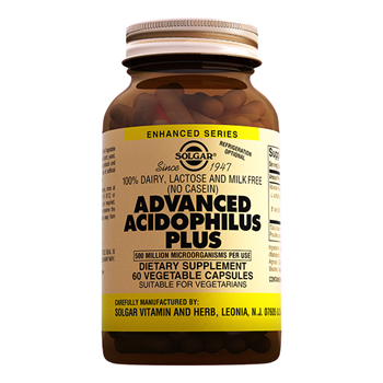 SOLGAR ADVANCED ACİDOPHİLUS PLUS 60 VEGATABLE CAPSULES
