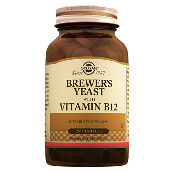 SOLGAR BREWER´S YEAST WİTH VİTAMİN B12 ( 250 ) TABLETS