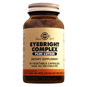 SOLGAR EYEBRİGHT COMPLEX PLUS LUTEİN 60 VEGATABLE CAPSULES