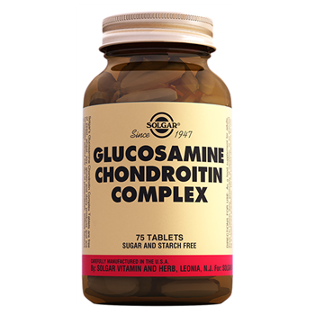 SOLGAR GLUCOSAMİNE CHONDROİTİN COMPLEX 75 TABLETS