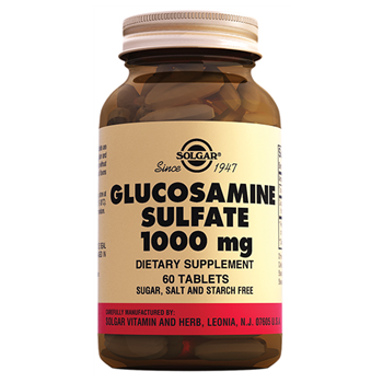 SOLGAR GLUCOSAMİNE SULFATE 1000 Mg 60 TABLETS