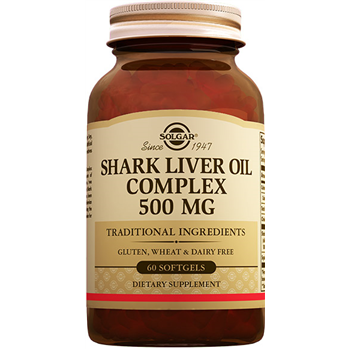 SOLGAR SHARK LİVER OİL COMPLEX 500 Mg 60 SOFTGELS