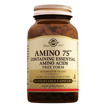 SOLGAR AMİNO 75 CONTAINING ESSENTIAL AMINO ACIDS 30 VEGATABLE CAPSULES