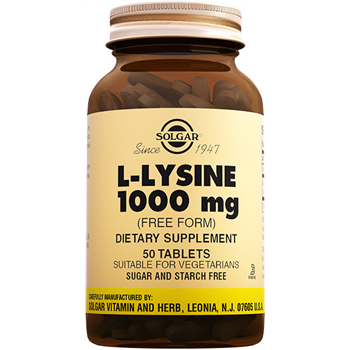 SOLGAR L-LYSİNE 1000 Mg 50 TABLETS