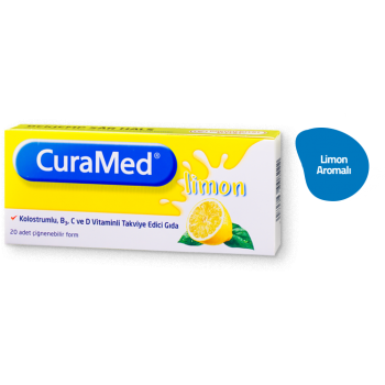 CURAMED LİMON 20 TABLET KOLOSTRUMLU