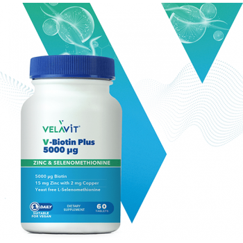 VELAVİT V-BİOTİN PLUS 5000 IU 60 TABLET