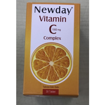 NEWDAY VİTAMİN C 1000 MG COMPLEX 30 TABLET
